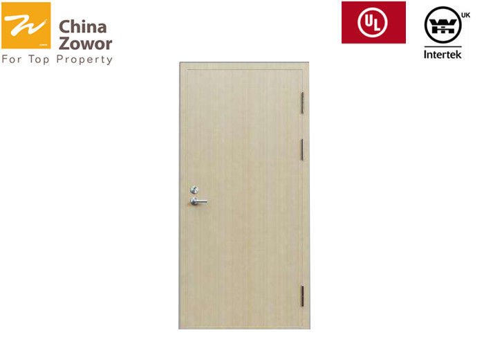 Single Leaf Oak Wood Finish Soundproof 30 Minute Fire Rated Wood Doors For Hotel