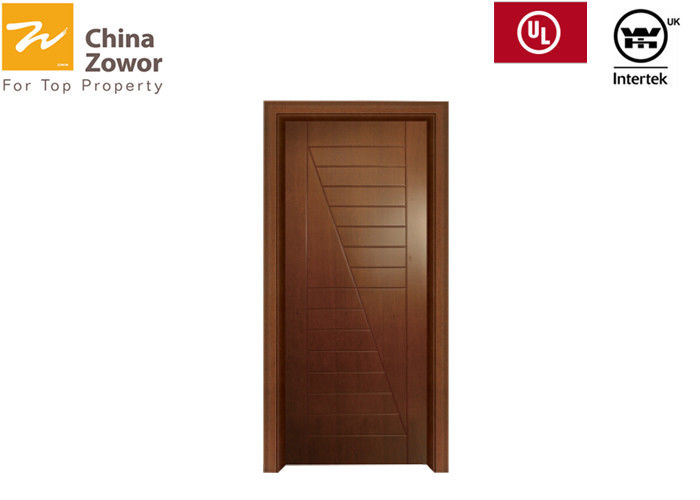BS476 Baking Paint Flush Panel Wooden Fire Doors For Apartment/Various Colors/ Size 3'X 7'/ Perlite Board Infilling
