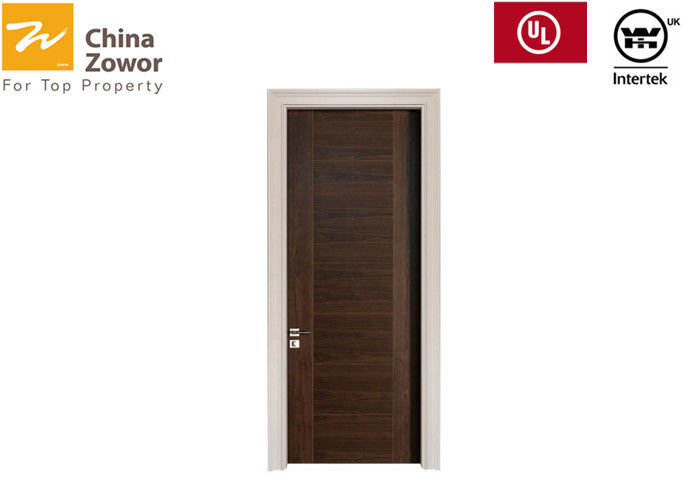 BS476 Customized Teak Wood Fireproof Wooden Doors For Hotel/Baking Paint Finish