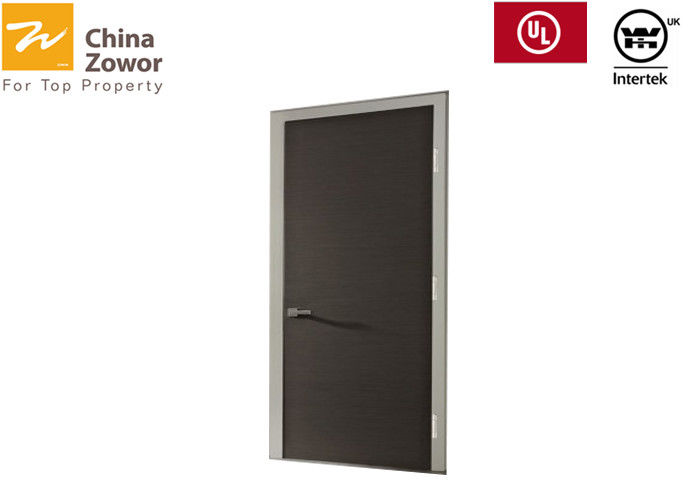 BS476 Tested Solid Wood Fire Rated Doors For Hotel/ HPL Finish/ 90mins Fire Rated/ Various Colors